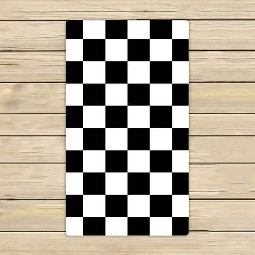 Custom Checkered Towels,Black White Checkered Pattern Beach Bath Towels Bathroom Body Shower Towel Bath Wrap for Home,Outdoor and Travel Use Size 16x28 inches