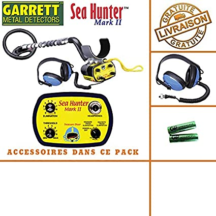 Garrett Sea Hunter Mark II – Detector de metales con sonido y auriculares sumergibles