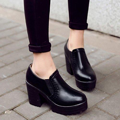 Charm Foot Womens Platform Chunky Heel Western Ankle Boots Black c5erP