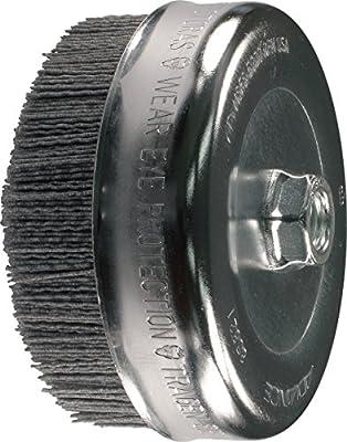 """PFERD 83821 M-BRAD Abrasive Filament Cup Brush, Silicon Carbide Grain, 6"""" Diameter, 5/8-11 Thread, 0.040 Wire Size, 5000 rpm, 80 Grit"""