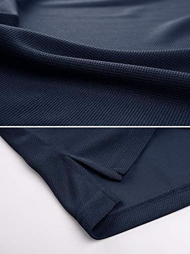 TACVASEN Poids léger Séchage Rapide Manche Longue Chemise Polo Respirant Top T Shirt Homme 4