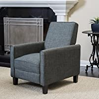 Lucas Grey Recliner Club Chair