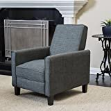 Cheap Great Deal Furniture Lucas Grey Recliner Club Chair