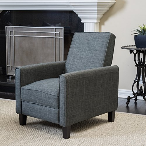 Christopher Knight Home 296146 Lucas Recliner Club Chair Slate