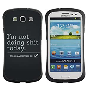 Fuerte Suave TPU GEL Caso Carcasa de Protección Funda para Samsung Galaxy S3 I9300 / Business Style Mission Accomplished