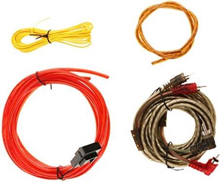 D DOLITY カーオーディオ サブウーファー サブアンプ アンプ RCA 配線キット 電源ケーブル