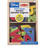 Melissa & Doug Disney Wooden Letter Alphabet Magnets (Developmental Toys, Sturdy Wooden Construction, 52 Pieces)