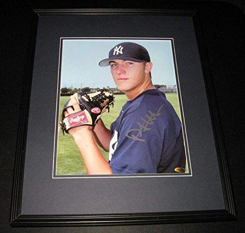 Autographed Phil Hughes Photo - Framed 11x14 Poster JUST - Autographed MLB Photos - Hughes Framed