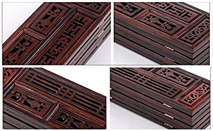 6 Pannelli Legno Richiudibile Mkuha Paravento Pieghevole con Intaglio Regali//Decorazioni con Caratteristiche Cinesi 36x25x0.5cm,Brown,S Separ/é per Interni Divisorio per Desktop