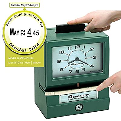 Acroprint Heavy Duty Manual Time Recorder for Day of the Week and Hour