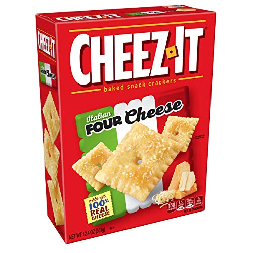 Cheez-It Baked Snack Cheese Crackers, Italian Four Cheese, 12.4 oz Box ()