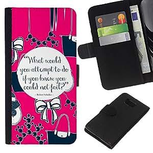 KLONGSHOP // Tirón de la caja Cartera de cuero con ranuras para tarjetas - Rosa de la moda Diseño Cita Collar - Samsung ALPHA G850 //