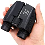 Sailnovo 10x25 High Powered Binoculars,Small Compact Lightweight Mini Pocket Folding Binoculars View Brightest for Bird Watching Outdoor Sports and Concerts Adults Kids