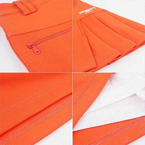 【PGM】レディースゴルフスカート GOLFウェア インナーパンツ付き コットン製品 伸縮性 軽量 通気性