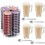 Home Treats Tassimo T 56Capsules Café sans support avec 4verres à latte et cuillères