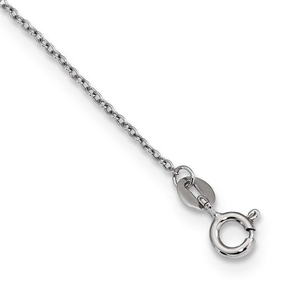 Beautiful Sterling silver 925 sterling Sterling Silver RH 7-8mm White Rice FWC Pearl CZ Necklace