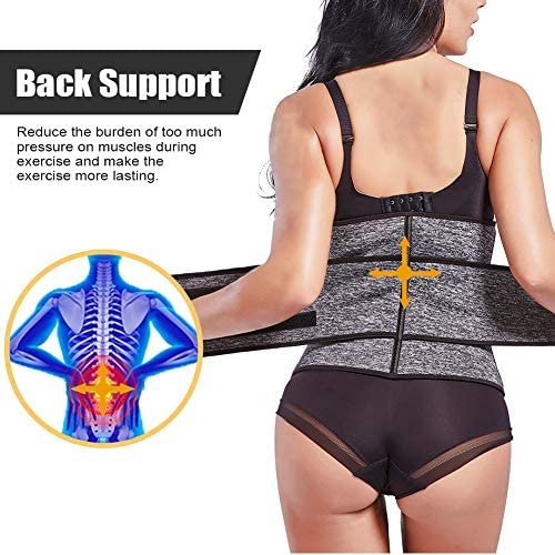FeelinGirl Women Neoprene Sweat Waist Trainer Corset Trimmer Belt Waist Cincher Body Shaper Slimmer