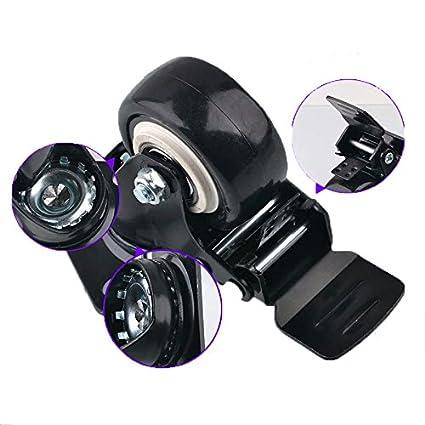 Hausee 4 x Lenkrollen mit Bremse Schwenkrollen Tragkraft 400kg 2//50mm Schwarz 2.0