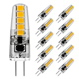 LE 10 Packs G4 LED Bulbs 2W (20W Halogen Equivalent) 210lm Warm White 3000K 360° Beam Angle