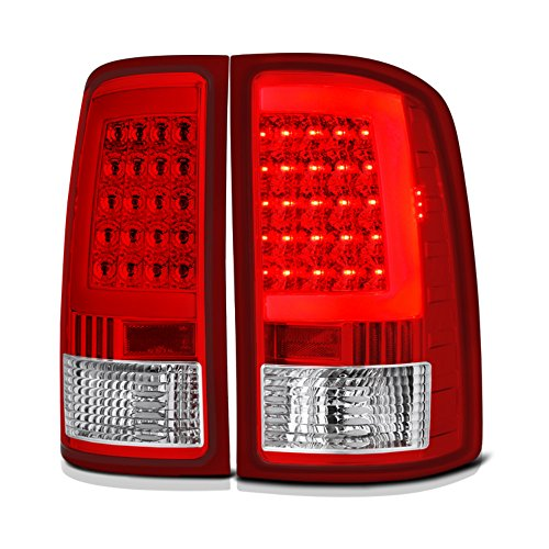 VIPMOTOZ Neon Tube LED Tail Light Lamp Assembly For 2007-2013 GMC Sierra 1500 2500HD 3500HD - Rosso Red Lens, Driver and Passenger - Gmc Light Tail