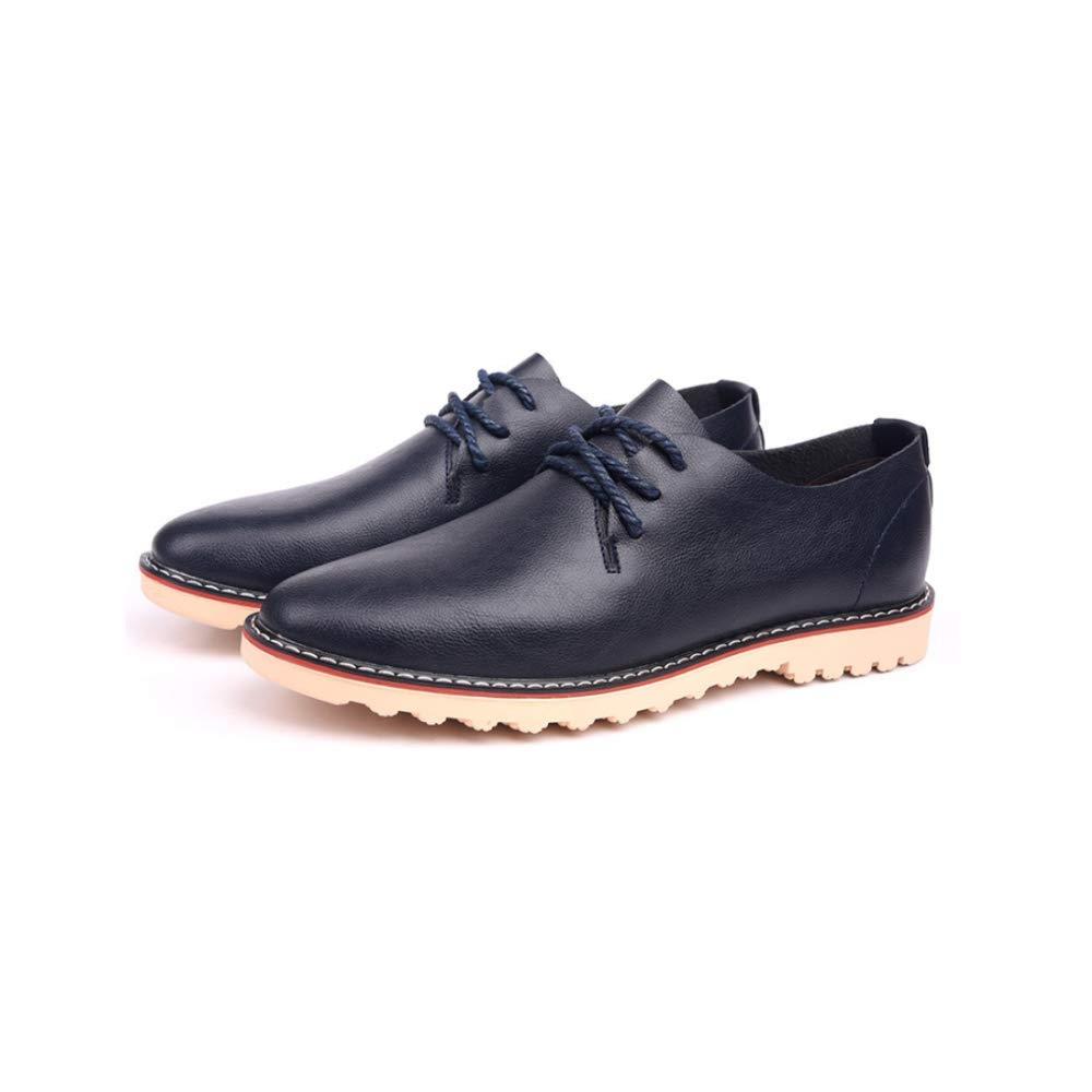 LYZGF Hombres Estaciones Negocios Ocio Zapatos Encajes Bajos para Ayudar Moda A Los Zapatos Moda Ayudar 5db642
