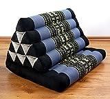 Asia Wohnstudio 1 Fold With Extra Large Triangle Cushion, 100% Natural Kapok Filling, Thai Xxl Jumbo Pillow, Headrest (Thai Cushion Seat Fold)