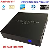 "Idroidnation I-Box ""PRO"" Octa Core 5.1 Lollipop Android Tv Box 2g 16g Plug and Play 4k Tv Media Center Box Streaming Media Player Fully Loaded Iptv Htpc"