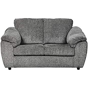 Excellent Signature Design By Ashley Azaline Contemporary Upholstered Loveseat Slate Grey Squirreltailoven Fun Painted Chair Ideas Images Squirreltailovenorg