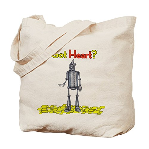 CafePress - Tin Woodsman Got Heart Tote Bag - Natural Canvas Tote Bag, Cloth Shopping Bag