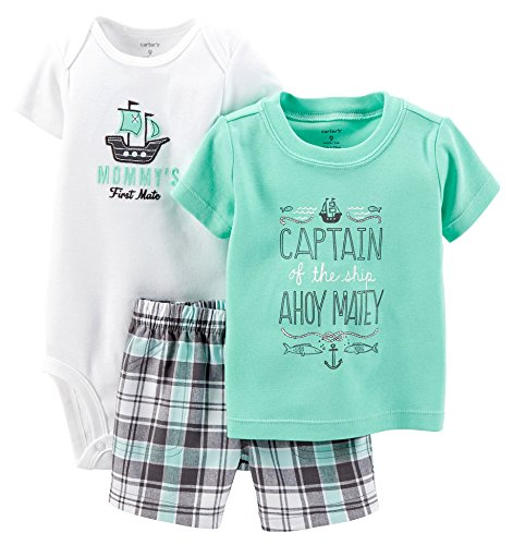 Carter's Baby Boys' 3 Piece Layette Set (Baby) - Ahoy Matey - 6 - Ca 198