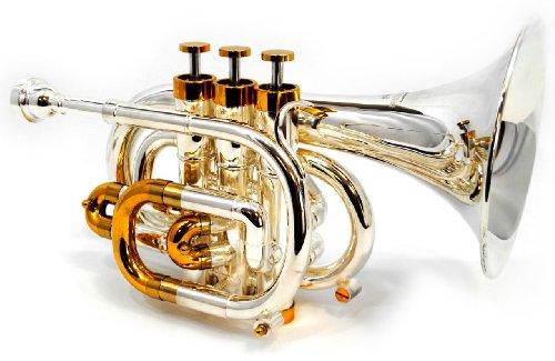 Schiller CenterTone Pocket C Trumpet - Silver & Gold Plated by Schiller