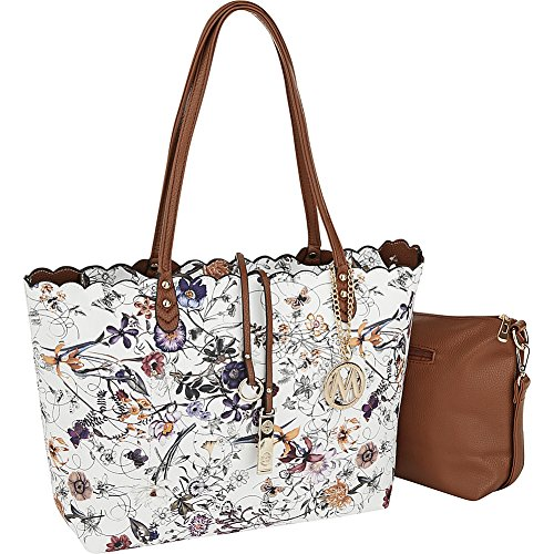 - MKF Collection by Mia K. Farrow Kalysha Reversible Floral Shopper Tote (Camel)