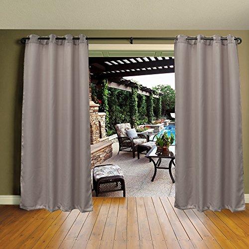Cross Land Outdoor Waterproof Patio Curtains Drapes Canopy Gazebo Privacy Exterior Shades/Blinds,Stripe, for Patio Porch Door Pergola,CabanaDock (54