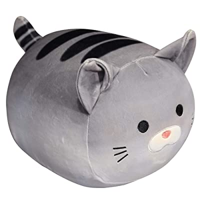 Fortuning's JDS Stuffed Animals Cat Plush Toy Soft Toy Chubby Plush Toys Kawaii Plush Pillow Cuddly Toys for Kids: Toys & Games