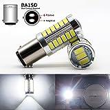bulb 1004 - Boodled 2pcs BA15D 5630 33-SMD White 900 Lumens 6000K~6500K Super Bright LED Turn Tail Brake Stop Signal Light Lamp Bulb DC 12V 3.6W ( 2xBA15D-5630-33-W-ZF) ( BA15D)