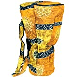 X8 Drums & Percussion X8-BG-GOLD-XXL Djembe Backpack Bag with Gold Celestial Design, XXL