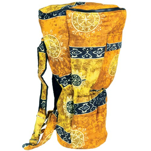 X8 Drums X8-BG-GOLD-XXL Djembe Backpack Bag with Gold Celestial Design, XXL by X8 Drums & Percussion