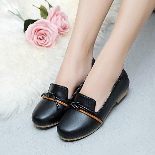 Mee Shoes Women's Comfortable Slip On Size 2-8 Flat Court Shoes Black 2cbZe
