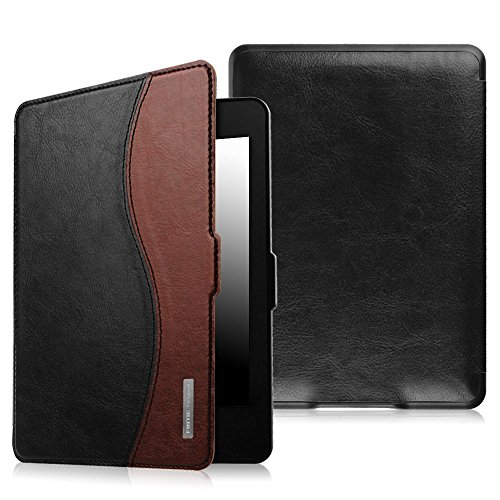 Fintie Case for Kindle Paperwhite - The Thinnest and Lightest PU Leather Cover Auto Sleep/Wake for All-New Amazon Kindle Paperwhite (Fits All 2012, 2013, 2015 and 2016 Versions), Dual Color
