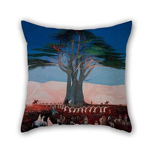 beeyoo Oil Painting Csontv??ry Kosztka, Tivadar - Pilgrimage to The Cedars of Lebanon Pillowcover Best for Bedding Car Drawing Room Car Seat Sofa Saloon 20 X 20 Inches / 50 by 50 cm(2 Sides)