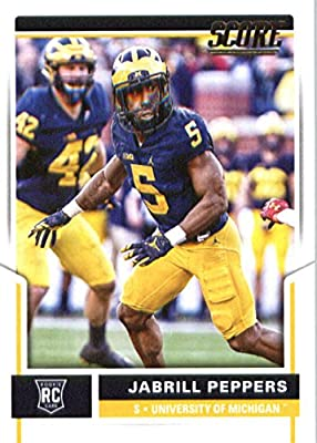 2017 Score #357 Jabrill Peppers Michigan Wolverines Rookie Football Card Cleveland Browns 1st Round Pick #25