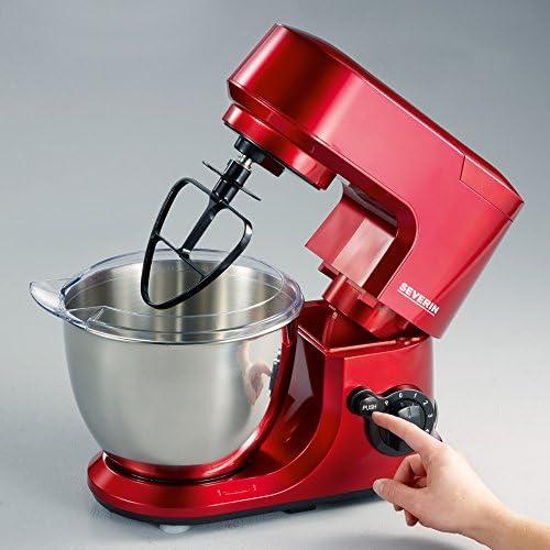 Severin KM 3891 - Robot de cocina con complemento mezclador, color rojo: Amazon.es: Hogar