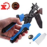 Xmifer Professional Hole Punch for Leather Belt Punching Perfect Round Holes Pliers in 2mm-4.5mm