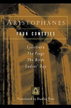 Four Comedies: Lysistrata / The Frogs / The Birds / Ladies' Day 0156079003 Book Cover