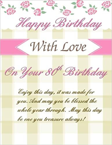 On Your 80th Birthday Greetings Weekly Planner Gifts For Women In Al80th Party Supplies Al