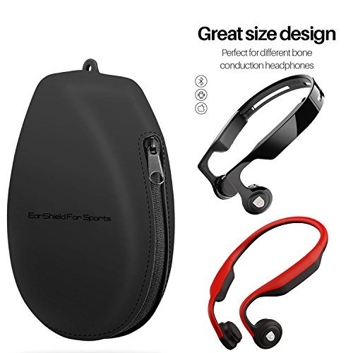 Headphone Cases Dust-Proof, Shockproof, Waterproof Bone Conduction Headset Bag Pouch with Hook, Carrying Cases for OVTECH, Aftershokz, KSCAT, Trekz, Titanium Bone Conduction Headphones