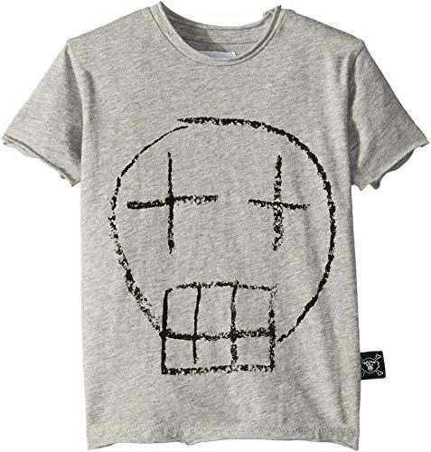 (NUNUNU Baby Boy's Sketch Skull T-Shirt (Infant/Toddler/Little Kids) Heather Grey 2-3 Years)
