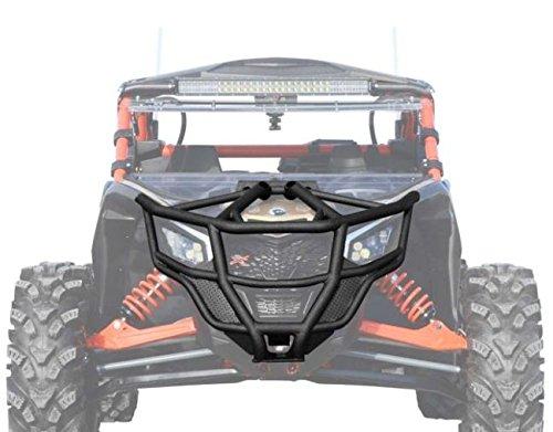 (SuperATV Heavy Duty Front Bumper for Can-Am Maverick X3 (2017+) - Black)