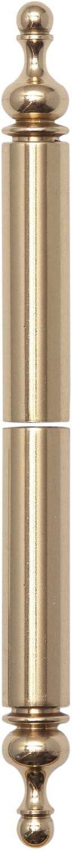 oben Bandh/öhe 112mm Zierh/ülse aus Messing Band /ø 15mm Aufsteckh/ülse poliert f/ür Einbohrb/änder unten