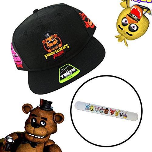 74124a195e3 Galleon - FNAF Five Nights At Freddy s Freddy Fazbear s Pizza Kids Youth Hat    Bracelet